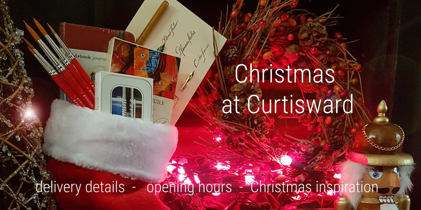 Christmas stocking with arty presents