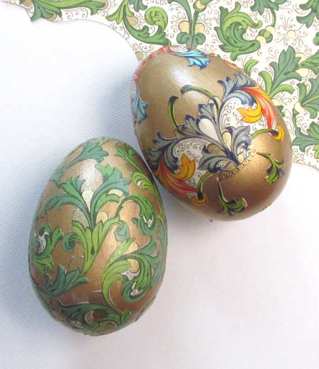 Faberge-inspired egg decoration
