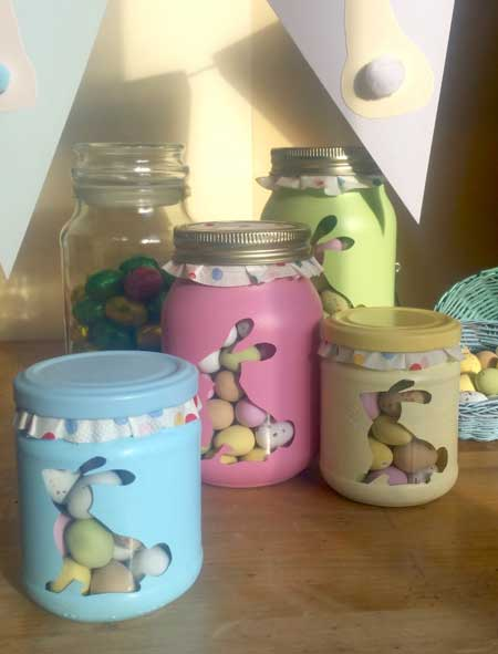Decorating Jam Jars To Store Your Easter Choccies New How To Decorate Jelly Jars