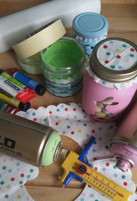 decorating jam jars to store your easter choccies