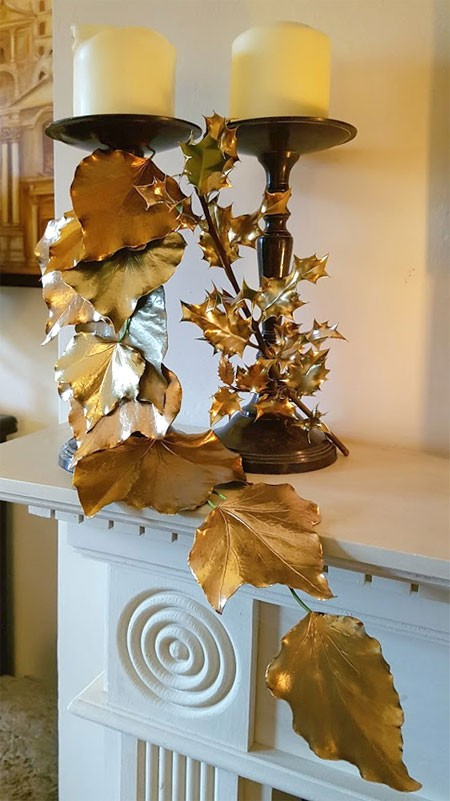 Gilded Holly and Ivy