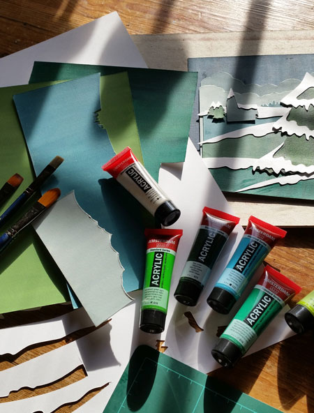 Painting Paper to use in your collage