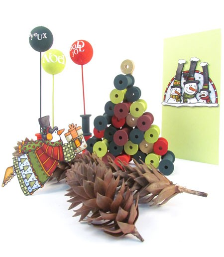 Christmas Craft with Cotton Reels