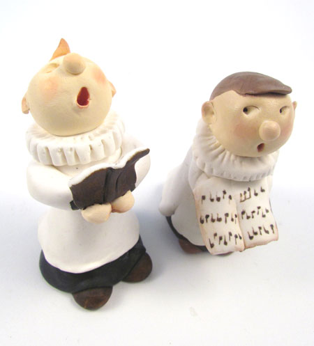 Figures made using Sculpey Original White Polymer Clay