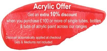 Artist Acrylic Offer