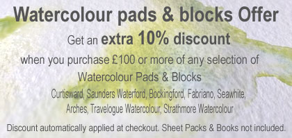 Watercolour pads & Blocks Offer