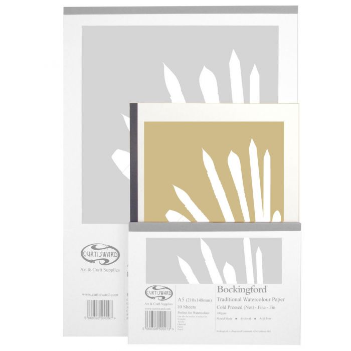 A4 Curtisward Bockingford Cold Pressed Watercolour Paper Pad Artists Paper