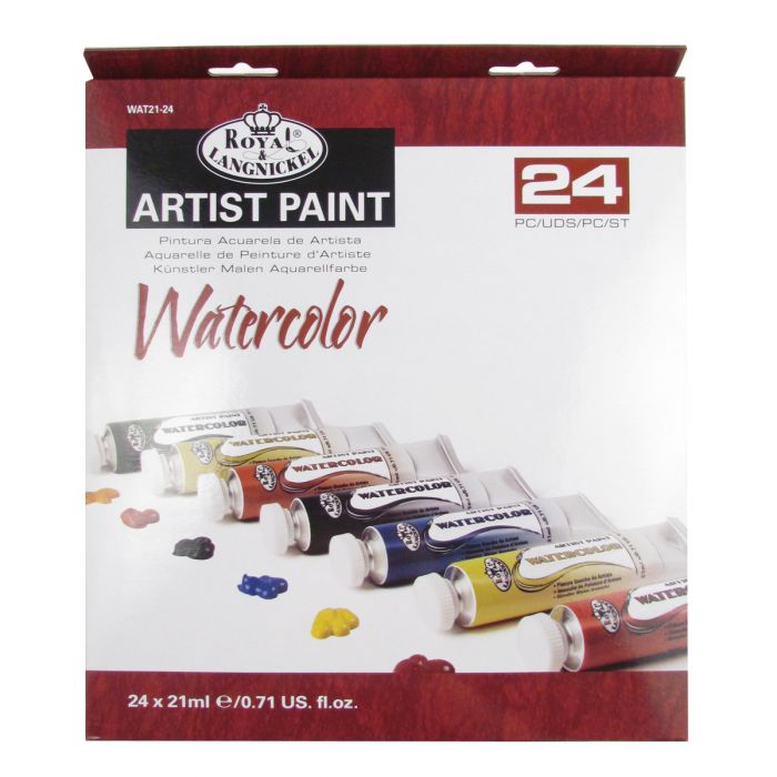 Royal Langnickel Watercolour Paint 24 x 21ml Tube Assorted Colour Set
