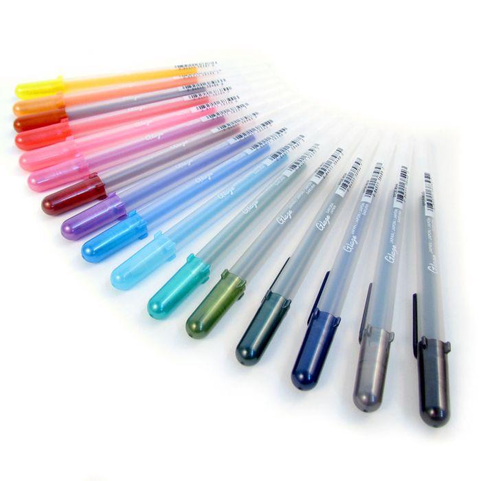 Artists Multi Surface Gel Pens. Sakura Gelly Roll Glaze 3D-Roller Pen Set A