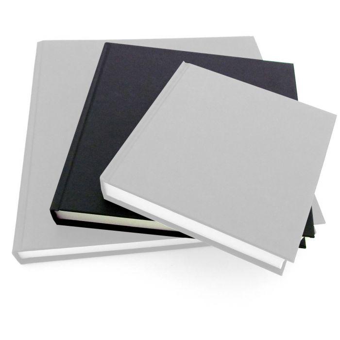 Seawhite Black Cloth Hardback Artists Sketchbooks.140gsm White Cartridge