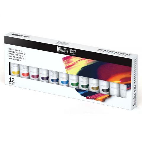 Liquitex Professional Heavy Body Artist Acrylic Classic 12 Tube Set
