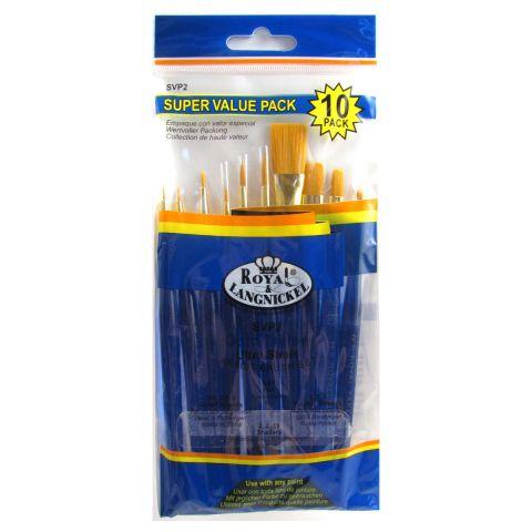 Royal & Langnickel 10 Brushes Value Set SVP2