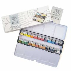 Winsor & Newton Pro Artists Watercolour 24 Half Pan Metal Box Set (0190553)