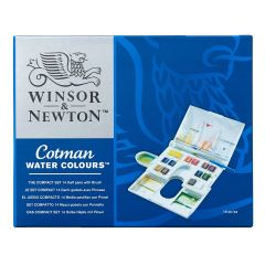 Winsor & Newton Cotman Watercolour 14 Half Pan Compact Artist Box Set