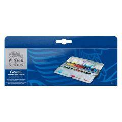 Winsor & Newton Cotman Watercolour 24 Half Pan Artist Metal Box Set