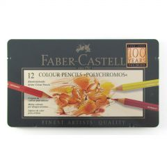 Faber Castell Polychromos Finest Artist Pencil Tin Set of 12