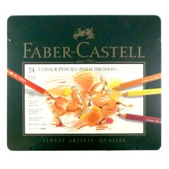 Faber Castell Polychromos Pencil Tin Set of 24
