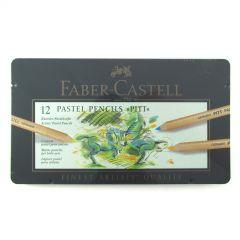 Faber Castell Finest Pitt Pastel Artist Pencils Tin Set of 12