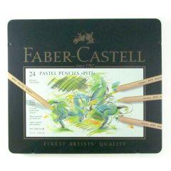 Faber Castell Finest Pitt Pastel Artist Pencils Tin Set of 24