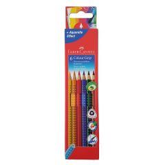 Faber Castell 6 Colour Grip Aquarelle Water Soluble Pencils