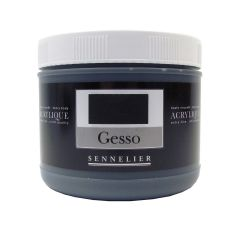 Sennelier Artists Coloured Gesso Black 500ml