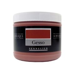 Sennelier Artists Coloured Gesso Red Ochre 500ml