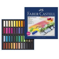 Faber Castell Artists Soft Pastels. Box Set of 48 Assorted Colours