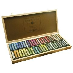 Sennelier 50 Assorted Soft Pastel Wooden Box Set. Professional Artists Pastels