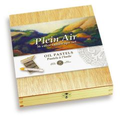 Sennelier 36 Plein Air Landscape Oil Pastel Wooden Box Set. Pro Artists Pastels
