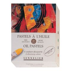 Sennelier 6 Assorted Artists Oil Pastel Box Set