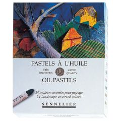 Sennelier Oil Pastels Box Set of 24 landscape Colours