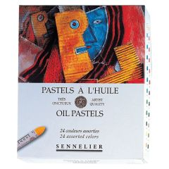Sennelier Oil Pastels Box Set of 24 Assorted Oil Pastels