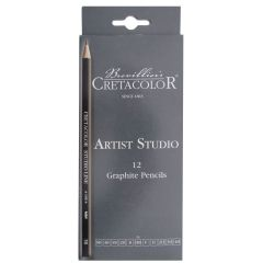 Cretacolor Artists Studio Graphite 12 Pencil Set (6B-4H)