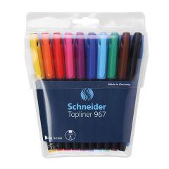 Schneider Topliner Artist Drawing Pens Set of 10 Colours. 0.4mm