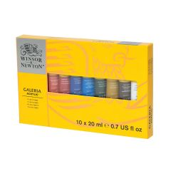 Winsor & Newton Galeria Acrylic 10 x 20ml Tube Paint Set
