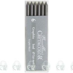 Pack of 6 Cretacolor Artists 6B 5.6mm Clutch Pencil Leads