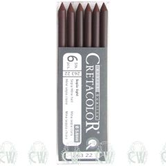 Pack of 6 Cretacolor Artists Sepia Light 5.6mm Clutch Pencil Leads