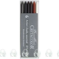 Pack of 6 Assorted Cretacolor Artists 5.6mm Clutch Pencil Leads