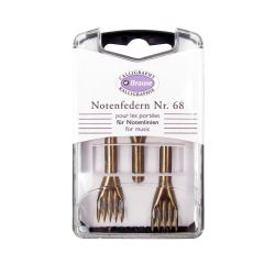 Box Set of 3 Brause No.68 Portee Staff Dip Pen Nibs