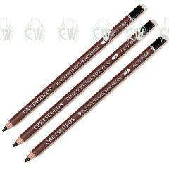 3 X Cretacolor Artists Black Pastel Pencils