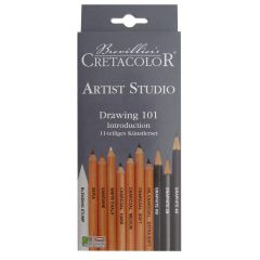 Cretacolor Artist Studio Drawing 101 Graphite & Charcoal Pencil Set