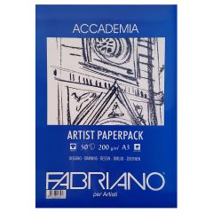 Fabriano Accademia 50 Sheet 200gsm A3 Artist White Paper Pack