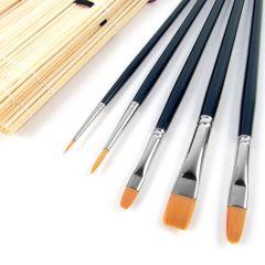 Da Vinci Nova Oil & Acrylic Brush Bamboo Brush Roll Set 5306