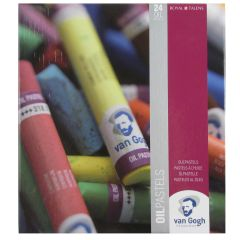 Van Gogh 24 Colour Oil Pastels Artists Box Set. Assorted Colours.