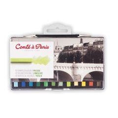 Conte Carres 12 Pastels Set Landscape Colours