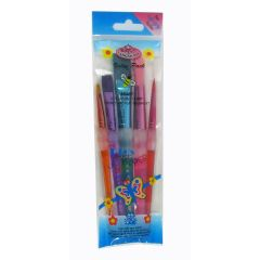 Childrens Chubby Paint Nylon Brush Set 5 assorted brush shapes