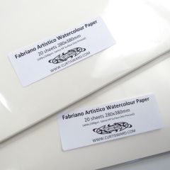 Fabriano Artistico Hot Pressed Watercolour Paper 380x280mm 20 Sheet Pack 300gsm