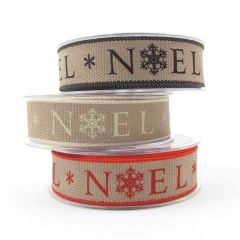 Berisfords Rustic Style Christmas Ribbon 25mm
