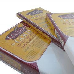 "Loxley Gold Canvas Standard Edge Triple Pack 5""x5"" (125mmx125mmcm)"