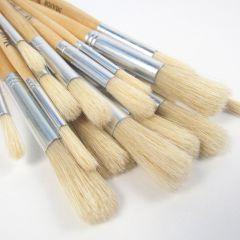 30 Pack Short Handled Bristle Brushes